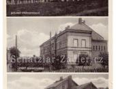 Nemocnice, škola Na Pilíři, nádraží 1940